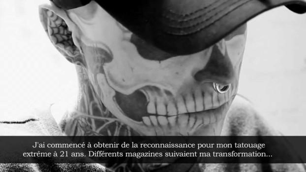 Maquillage pour Rick Genest, alias Zombie Boy
